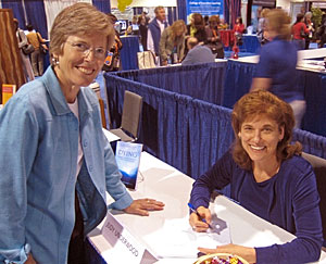 Judy K. Underwood, Ph.D. signing books at the International Coach Federation convention in Long Beach, CA.